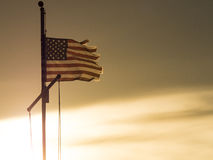 Flag Still Flying Royalty Free Stock Photography