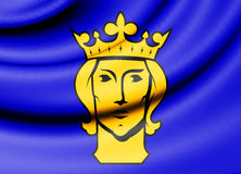 Flag of Stockholm, Sweden. Royalty Free Stock Image