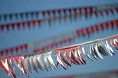 Flag streamers. Waving in the wind Royalty Free Stock Images