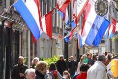 Flag street Stock Image