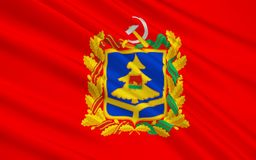 Flag of Bryansk Oblast, Russian Federation. The flag subject of the Russian Federation - Bryansk Oblast, Central Federal District, the East European Plain stock photo