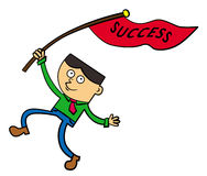 A flag of success Stock Photo