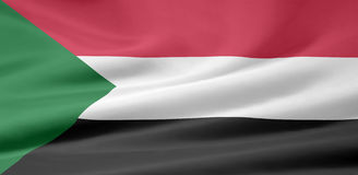 Flag of Sudan. Very large version of a sudanese flag Stock Photo