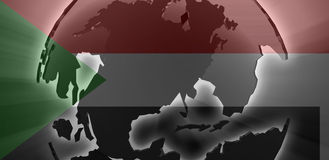 Flag of Sudan. National country symbol illustration Stock Photography