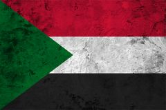 Flag of the Sudan close up Stock Image