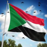 Flag of Sudan. This is a computer generated and 3d rendered image Stock Photos