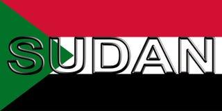 Flag of Sudan Word. Stock Photos
