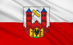 Flag of Suhl of Thuringia, Germany. Flag of Suhl is a city in Thuringia, Germany royalty free illustration