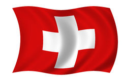 Flag of suisse. Waving flag of suisse Stock Illustration