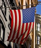 Flag in the sunlight. American flag in New York City Royalty Free Stock Photography