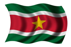 Flag of Suriname. Waving in the wind Royalty Free Stock Image