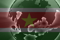 Flag of Suriname Stock Image
