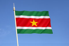 Flag of Suriname Stock Photography