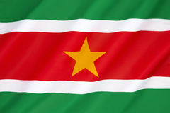 Flag of Suriname. Adopted at independence on 25th November 1975 Stock Images