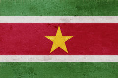 Flag of Suriname Grunge. Stock Photos