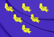Flag of Sussex. Royalty Free Stock Photo