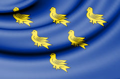 Flag of Sussex. Stock Images
