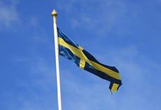 flag svensk Royaltyfri Fotografi