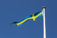 flag svensk Royaltyfria Bilder