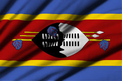 Flag of Swaziland Stock Photography