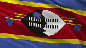 Flag of Swaziland - seamless loop royalty free illustration