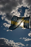 Flag of Sweden. Swedish flag waiving in the wind Royalty Free Stock Photos