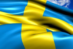 Flag of Sweden Royalty Free Stock Photography