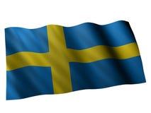 Flag of sweden. 3d rendered illustration of the swedish banner Stock Photos
