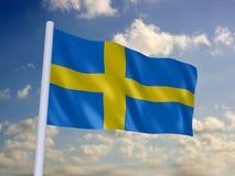 Flag of sweden. 3d rendered illustration of the swedish banner Stock Images