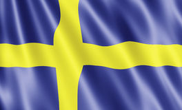 Flag Of Sweden Stock Photography