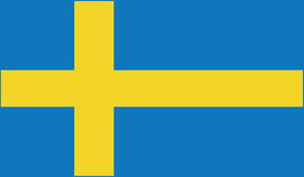 Flag of sweden  icon illustration Royalty Free Stock Photo