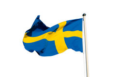 Flag of Sweden. Isolated on the white background, national patriotic symbol Stock Photo