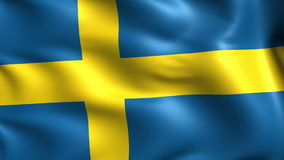 Flag of Sweden (loop) stock video