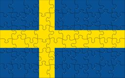 Flag of  Sweden puzzle Stock Photography