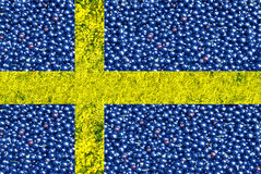 Flag of Sweden from raspberries and currants Royalty Free Stock Photos
