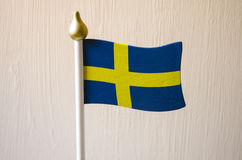 Flag of Sweden. The flag of Sweden is a Scandinavian cross that extends to the edges of the flag Stock Photography