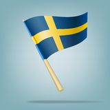Flag of Sweden. vector illustration Stock Photography