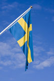 Flag of Sweden. The flag of Sweden waving Stock Photos