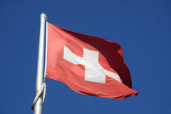 Flag of Swiss Royalty Free Stock Photography