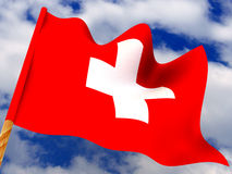 Flag. Switzerland Stock Image