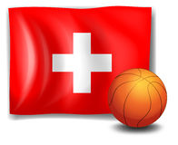 The flag of Switzerland with a ball Royalty Free Stock Photo
