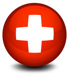 The flag of Switzerland in a ball