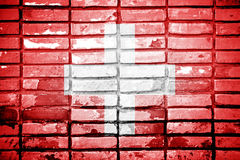 Flag of Switzerland painted Royalty Free Stock Images