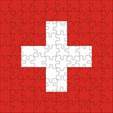 Flag of Switzerland puzzle Royalty Free Stock Image