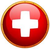 Flag of Switzerland in round frame Royalty Free Stock Photo