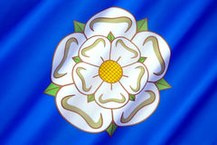Flag and symbol of Yorkshire - United Kingdom Royalty Free Stock Image
