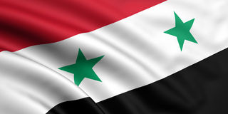 Flag Of Syria. 3d rendered and waving flag of syria Stock Photo
