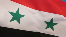 Flag of Syria. As a result of the ongoing Syrian civil war, there are currently two governments claiming to be the de jure government of Syria, using different stock video