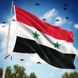 Flag of Syria. This is a computer generated and 3d rendered image Royalty Free Stock Images