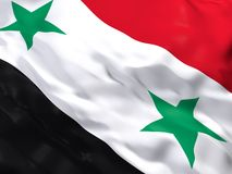 Flag of Syria. 3d beautiful Flag of Syria Stock Photo